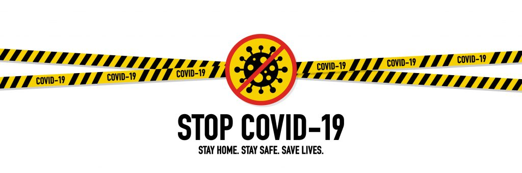 this is a COIVD 19 banner - Stop COVID 19